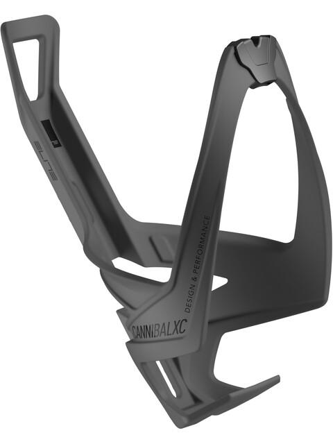 Elite Cannibal XC Skin Flaschenhalter schwarz soft touch/schwarze Grafik